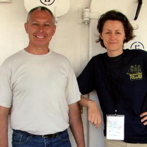 Elena meets her compatriot sailors aboard the Russian tall ship <strong>Pallada,</strong> Victoria, 2011