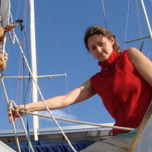 Changing batteries on Bodaicea, Marina del Ray, CA, 2012