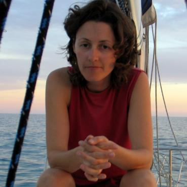 Elena, not so happy with her and Meg's endless exile, Boadicea, off Mexican coast, 2015